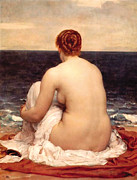 Nudes Paintings - Psamathe by Frederic Lord Leighton