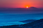 Acropolis Photo Posters - Psara sunset  Poster by Emmanuel Panagiotakis