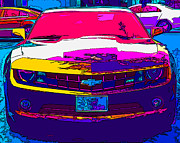 Samuel Sheats Metal Prints - Psychedelic Camaro Metal Print by Samuel Sheats