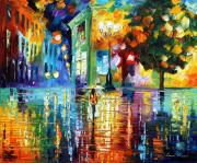Building Painting Originals - Psychedelic City by Leonid Afremov