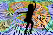 Trippy Digital Art - Psychedelic Dancer by Bill Cannon