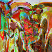 Heart Art Posters - Psychedelic Emotions Poster by Linda Sannuti