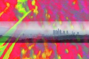 Psychedelic Photo Prints - psychedelic energy of Los Angeles Print by Viktor Savchenko