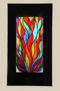 Textured Sculpture Prints - Psychedelic Flames Print by Rick Roth