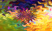 Psychedelic Flower - A Fractal Abstract Print by Gina Manley