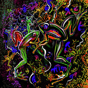 Atomic Mixed Media - PSYchedelic Frogs by Steve Farr