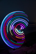 Juggling Photo Prints - Psychedelic Hula Hoop Print by Ilan Rosen