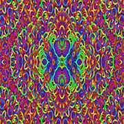 Psychedelic Kaleidoscope  Print by Gina Manley