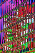 Psychedelic Photo Prints - Psychedelic Reflection of Barcelona 12 Print by Richard Henne