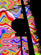 Retro Digital Art Originals - Psychedelic Sky by Phill Petrovic