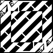 Yonatan Drawings - Psychedelic Square Maze by Yonatan Frimer by Yonatan Frimer Maze Artist