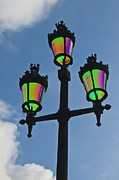 Psychedelic Photo Prints - Psychedelic Streetlamps Print by Richard Henne