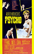 1960s Movies Posters - Psycho, Clockwise From Top Left Anthony Poster by Everett