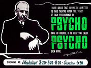 1960s Poster Art Photos - Psycho, Director Alfred Hitchcock by Everett