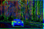 Car Abstracts Photo Posters - Psycho Ride Poster by Julie Lueders