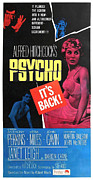 1960s Movies Posters - Psycho, Top Left Anthony Perkins Top Poster by Everett