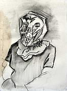 Brad Wilson Drawings - Psychological Mask by Brad Wilson