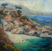 China Cove Prints - Pt Lobos View Print by Carolyn Jarvis