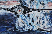 Bomber Painting Framed Prints - PT WWII Bomber Framed Print by Phyllis Barrett