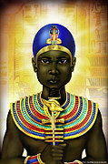 Hathor Digital Art Metal Prints - Ptah Metal Print by Gerald Richards