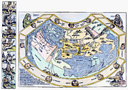 1493 Posters - Ptolemaic World Map, 1493 Poster by Granger