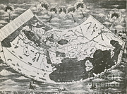 Ptolemy Prints - Ptolemys World Map Print by Photo Researchers