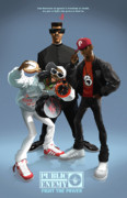 Shoe Digital Art Posters - Public Enemy Poster by Nelson Garcia