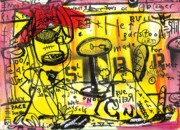 City Streets Mixed Media Prints - Public Intox Print by Robert Wolverton Jr