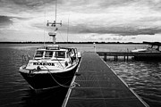 Neagh Prints - Public Jetty And Island Warrior Ferry On Rams Island In Lough Neagh Northern Ireland Uk Print by Joe Fox