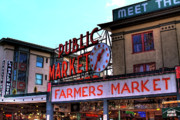 Seattle Tapestries Textiles Acrylic Prints - Public Market II Acrylic Print by David Patterson