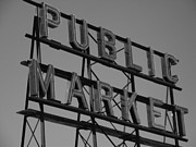 Seattle Digital Art Originals - Public Market by Monika Pabon