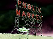 Farmers Market Framed Prints - Public Market Framed Print by Tim Allen