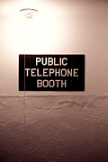 Retro Phone Photos - Public Phone Booth by Lauri Novak