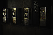 Telephones Prints - Public Phones Print by Mauricio Jimenez