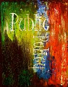 Art Word Metal Prints - Public Policy Metal Print by Laura Pierre-Louis