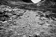 Glen Etive Photos - Public Rough Footpath To Glen Etive In Glencoe Highlands Scotland Uk by Joe Fox