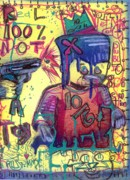 Graffiti Drawings Prints - Public Threat Print by Robert Wolverton Jr