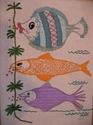 Animals Tapestries - Textiles Prints - Pucker Up Print by Marlene Robbins