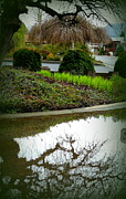 Flooding Photos - Puddle Reflections of Spring by Cindy Wright