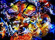 Hunt Mixed Media Metal Prints - Puddles the Newborn Metal Print by Skip Hunt