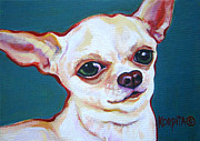 Chihuahua Colorful Art Prints - Puddy Print by Rebecca Korpita