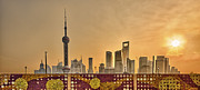 The Bund Prints - Pudong Skyline At Sunrise, Shanghai, China Print by William Yu Photography