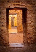 Ancient Doors Prints - Pueblo Doorways Print by Inge Johnsson
