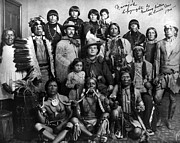 Breastplate Prints - Pueblo Group, 1904 Print by Granger