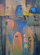 Small Abstract Paintings - Pueblos no. 1 by Melody Cleary