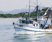 Puerta Vallarta Prints - Puerta Vallarta Fishing Boat Print by Randy Wimberly