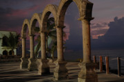 Los Arcos Prints - Puerta Vallarta Los Arcos at Night Print by Desiree DeLeeuw