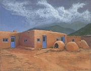 Taos Paintings - Puertas Azul by Jerry McElroy