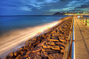 Railing Prints - Puerto De Benidorm Print by Ramonescu Photography