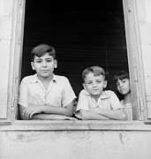 Greater Antilles Photos - Puerto Rican Children by Three Lions